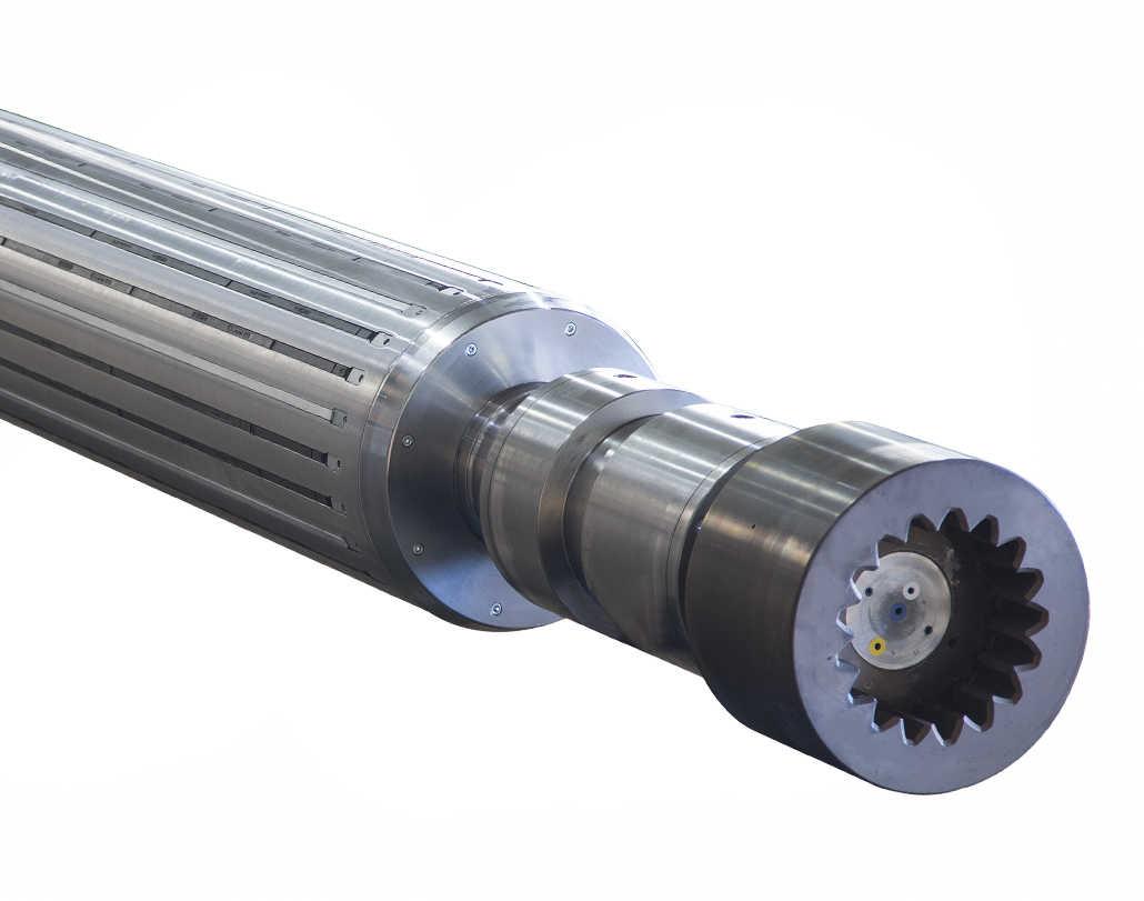 640 PQL POPE – Pneumatische Expansionswellen mit selbstzentrierenden Streifen für Durchlaufmaschinen